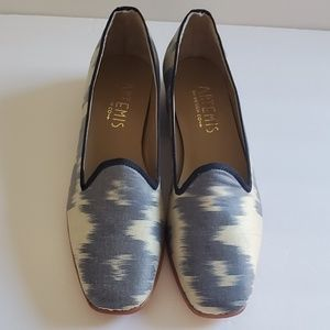 Artemis Design Co for Anthropologie silk loafers